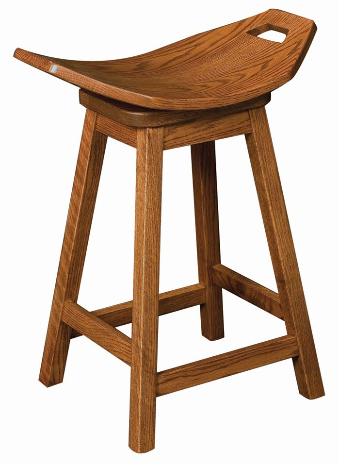 Mission Saddle Bar Stool