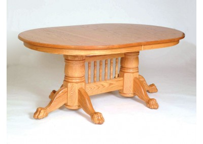 Double Pedestle Table