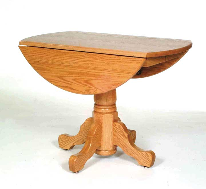 Single Pedestal Drop Leaf