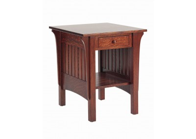 1800 Mission End Table w drawer