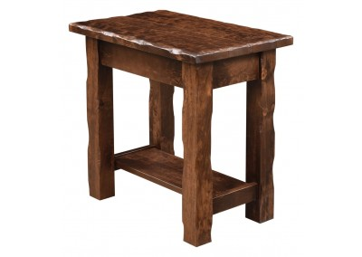 Hand Hewn Chair Side