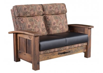 Kimbolton Loveseat-shown with leather seat