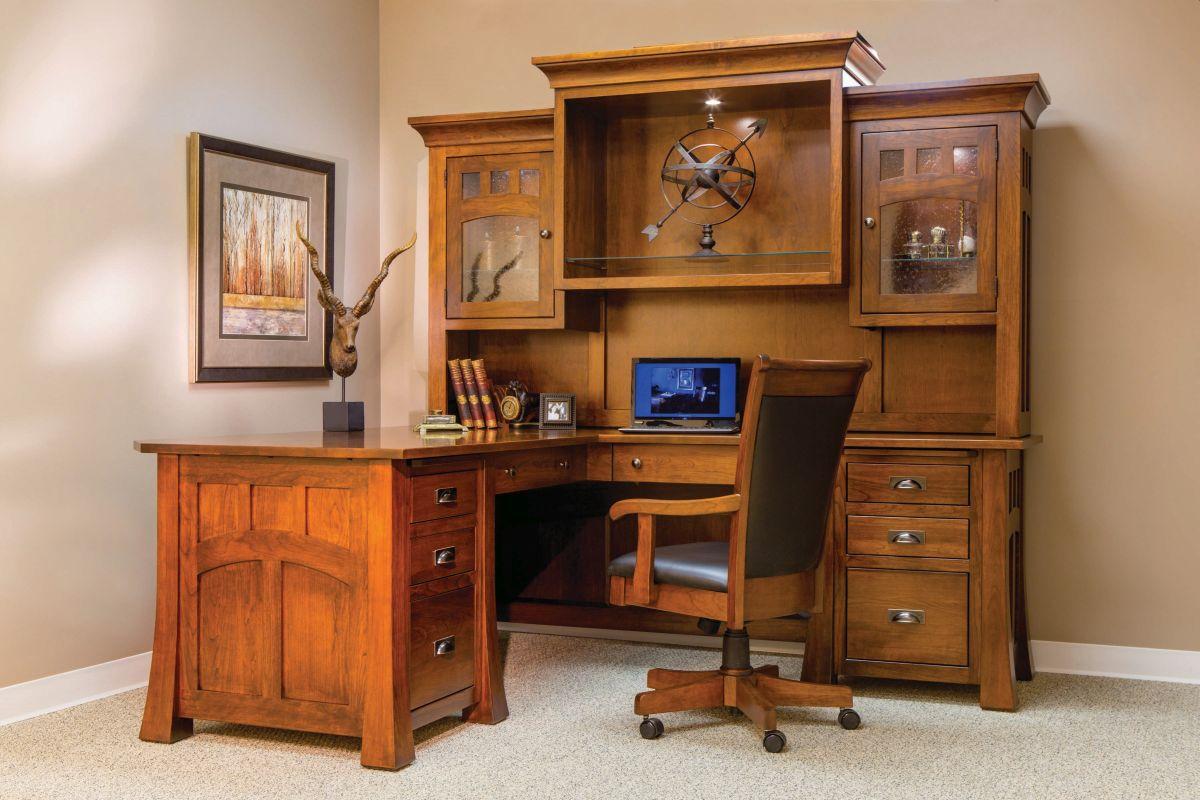 Bridgefort Mission Corner Desk